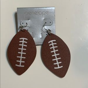 Brand new leather football earrings!
